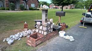 mailbox post ideas. Faux Stone Mailbox Post Image Of Ideas Cover