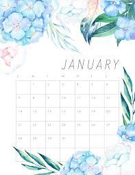 calendar 2018 free printable free printable 2018 floral calendar the cottage market