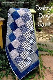 A simple Baby Boy Quilt to piece together and to quilt. It is ... & A simple Baby Boy Quilt to piece together and to quilt. It is simply blocks Adamdwight.com