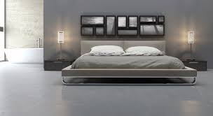 ... Modern Minimalist Design Of The Modern Bed Frame That Has Grey Modern Bed  Frames ...