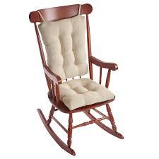 rocking chair cushions sets modern gripper saturn natural jumbo cushion set 84929xl 12 in 9
