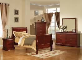 Acme Louis Phillipe III Sleigh Kids Bedroom Set in Cherry