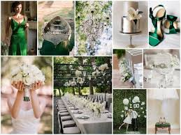 wedding theme silver. Green Silver White Wedding Theme Can get some very good ideas to