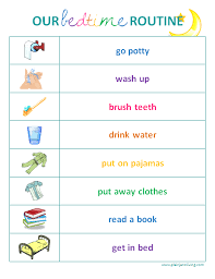 Toddler Bedtime Routine Chart Sarnia Mom Source Bedtime