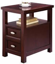 furniture extraordinary by inch high crown mark dempsey chair side chairside table with drawers wedge