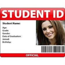 Shape Id 10 Rs Plastic Rectangular piece Student Card Id 7071302091