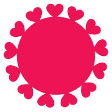 Silhouette Design Store View Design heart border circle