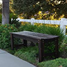 4 ft backless garden bench burnt brown view images
