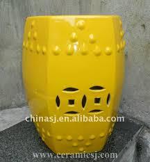 yellow hexagonal garden stool wrykb58