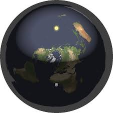 an animation of the day night cycle according to flat earth theory over the course of 24 hours