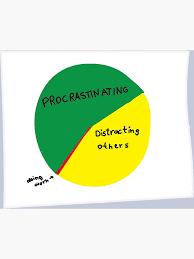 Pie Chart Of Procrastination Jim Halpert The Office Pie Chart Canvas Print