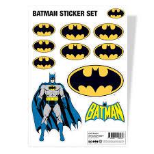 Dc Comics Batman Sticker Sheet Set Multicolours Hybris Attitude Europe