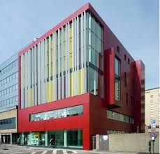 contemporary office buildings. Contemporary Office Building That Make Impressive: Italian Architecture Design Ideas With Red Sidings Buildings B