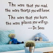 dr seuss the more you read wall decal removable wall sticker home decor iwallsticker com