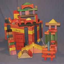 wooden toy 5 tier wooden wagon w 140 building blocks w 1516