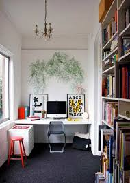 carpet for home office. Down Load Small Home Office With Black Carpet And Built In Bookcases For
