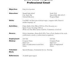 Resume Examples For Students With No Work Experience No Work
