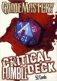 Zombiecowboys Game Blog D D 5e Critical Fumble Chart