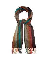 paul smith striped cashmere scarf multicoloured stripes mens paul smith swirl bag stylish