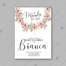Baby Shower Invitations Template Baby Shower Invitation Template With Tropical Flowers Of Hibiscus Palm Leaves