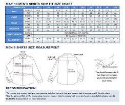 Men S Shirt Sizes Chart Mens Collar Shirt Size Chart Rldm