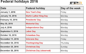 federal holidays in usa templates magazine for printable receive holiday pay in addition to their ordinary wages 2016 federal holidays in usa templates are knowingly made for the purpose of holidays