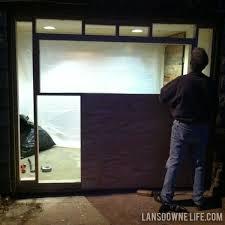 replacement garage doorsReplacing an old garage door with a wall  Lansdowne Life