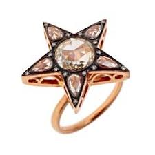 diamond and rose gold star seli l ring at annoushka star jewelry