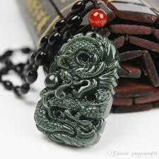 whole pure natural hand carved jade dragon china hetian jade pendant auious dragon necklace free male diamond necklace necklaces for women from