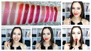 <b>Rimmel Lasting Finish Lipstick</b> by Kate Moss +Lip swatches - YouTube
