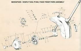 vespa part diagrams vespa px disc wiring diagram Vespa Px Disc Wiring Diagram front fork p200e