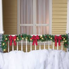 Lighted Decorated Garland Decorated Solar Lighted Christmas Garland