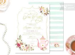 Tea Invitations Printable Baby Shower Tea Invitations Tea Party Baby Shower Invitation Tea