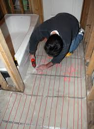 heated tile floors in bathrooms. installing radiant heated floor in bathroom. tile floors bathrooms