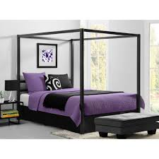 dorel modern canopy queen metal bed multiple colors  walmartcom