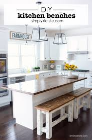 kitchen island plans with seating diy kitchen benches simply kierste design co
