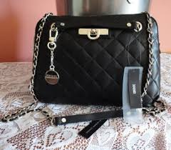 DKNY QUILTED NAPPA BLACK LEATHER CHAIN STRAP SHOULDER/CROSSBODY ... & Make a big impact in this Quilted Nappa bag by DKNY! Outside this shoulder  bag exudes luxury with super soft quilted black leather highlighted with  bold ... Adamdwight.com