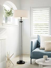 Iris 1 Light Floor Lamp In Blackglass