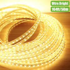 110v flexible led strips 50m warm white waterproof led outdoor lights le