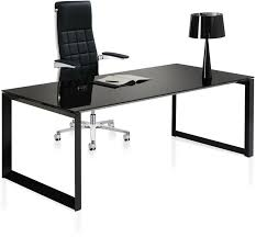 sleek office desk. Sleek Black Gloss Office Desk