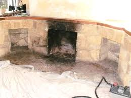 fireplace soot cleaning fireplace soot 2 cliffs stone fireplace before cleaning fireplace soot removal brick