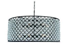 black drum shade crystal chandelier pendant light with crystals best modern kitchen home improvement awe stunning