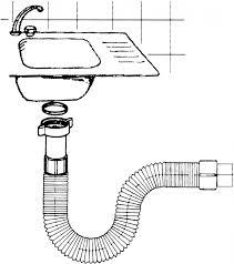 Flexibler Siphon Geruchsverschluss für Spüle