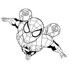 Ultimate Spiderman Kleurplaten Kleurplatenpaginanl Boordevol