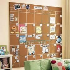 cork board calendar - pin tickets, invitations, and events right on the  board Love this idea for organization