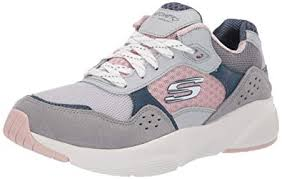 Skechers Womens Meridian Charted Leather Sneakers