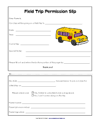 School Field Trip Permission Form Template Blank Field Trip Permission Slip Template For School Pdfsimpli