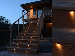 outdoor led deck lights. low voltage outdoor stair lights in a wooden villa led deck