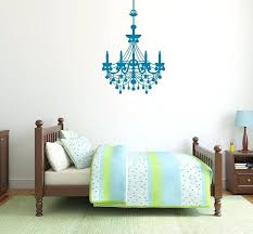 chandelier wall decal with rhinestones hanging