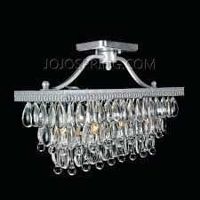 full image for clarissa glass drop extra long rectangular chandelier crystal glass drop silver flush mount